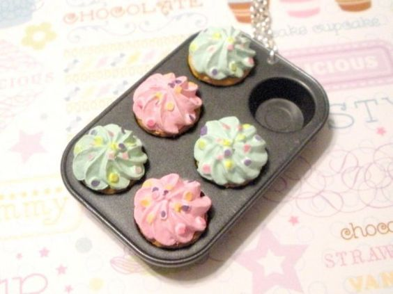 Cupcake Tray Necklace