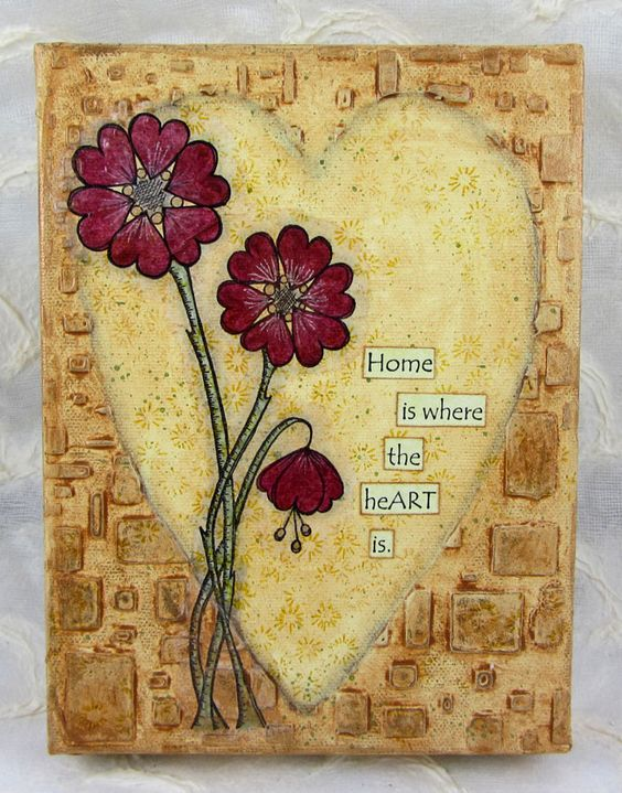 PaperArtsy: 2016 Topic 2: Heart Canvas {by Wanda Hentges}