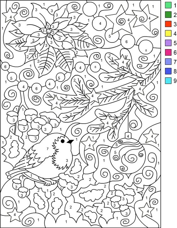 nicoles free coloring pages color by number winter coloring page coloring pages pinterest nicole s number and winter - Winter Coloring Pages For Adults