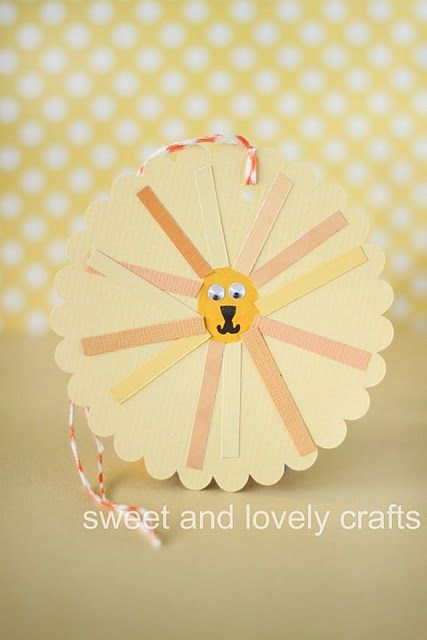thumbprint lion tag- perfect for birthday gifts!