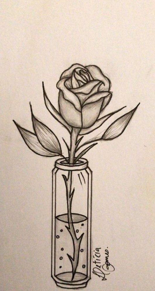 Un Dibujo Muy Bonito Y Facil De Hacer Dibujos Rosas Flores