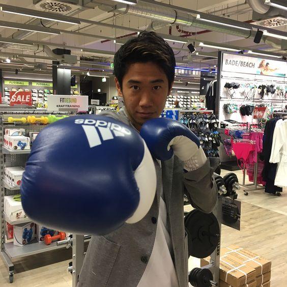 ボクシング姿の香川真司さん