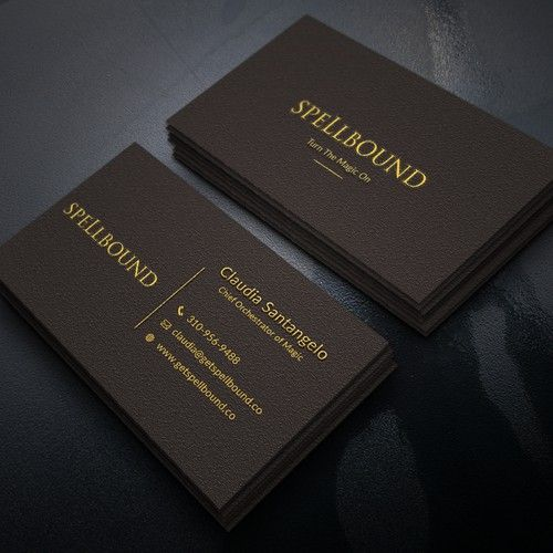 Create A Bold And Enchanting Business Card Design For Spellbound Business Card Contest Ad Design S Business Card Design Custom Business Cards Business Cards