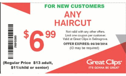 Great Clips Coupon | Sunbury | Hair Salon | Health and Beauty Coupons | 17870
