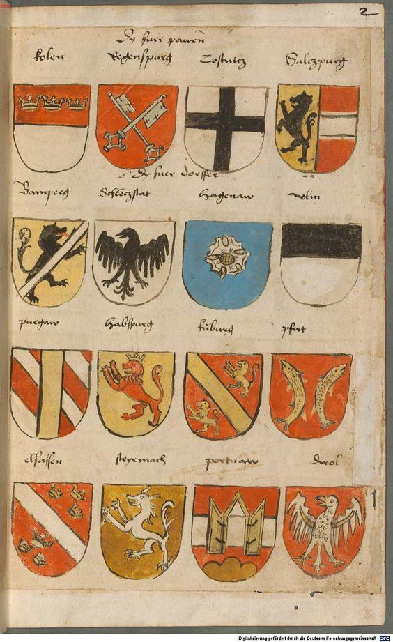 Wappen besonders von deutschen Geschlechtern Süddeutschland ?, 1475 - 1560 Cod.icon. 309  Folio 2r