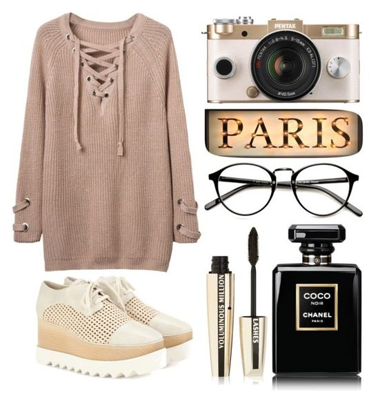 """""""#39"""" by al-gor-va ❤ liked on Polyvore featuring Urban Outfitters, L'Oréal Paris, WithChic and STELLA McCARTNEY"""