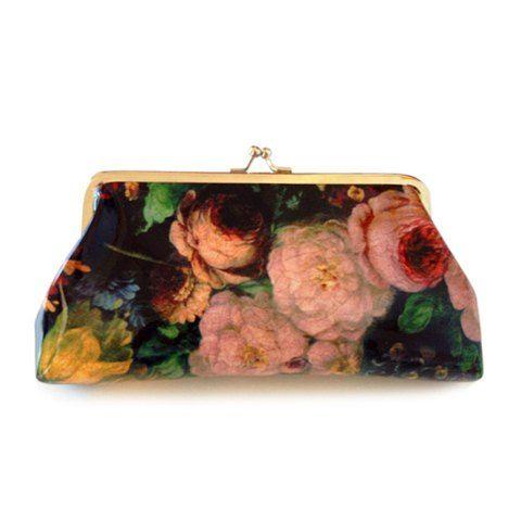 Floral Print Design  Clutch Wallet