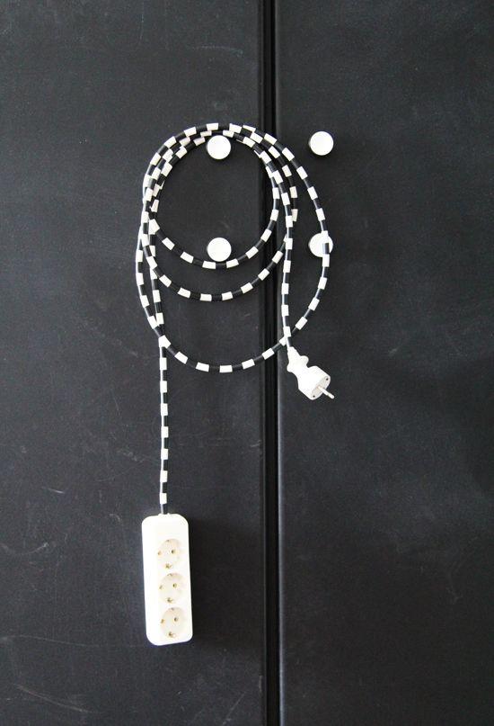 KAbel mit Washi-Tape bekleben