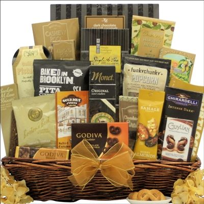 Send this superb, entirely Kosher, Extra Large Gourmet Gift Basket filled with…