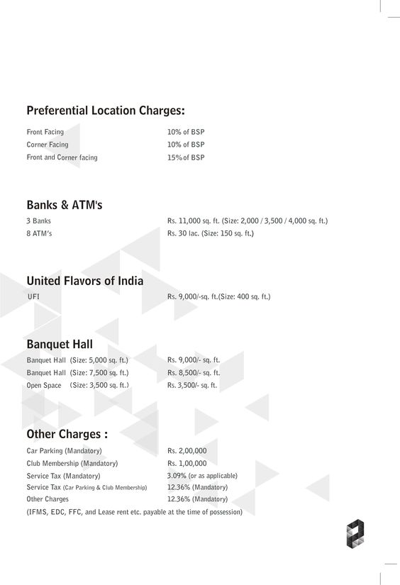 Price List  Payment Plan  Banks  AtmS United Flavors Of India