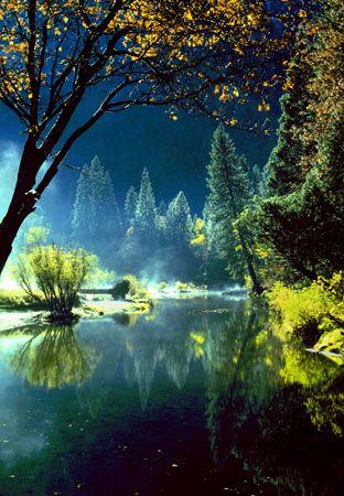 Fall Colors, Merced River Yosemite National Park by Bruce Muirhead