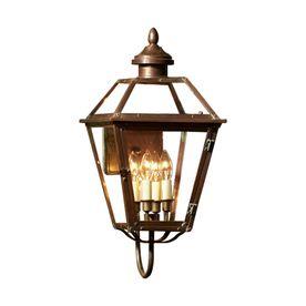 Allen Roth Vineyard H Antique Copper Outdoor Wall Light