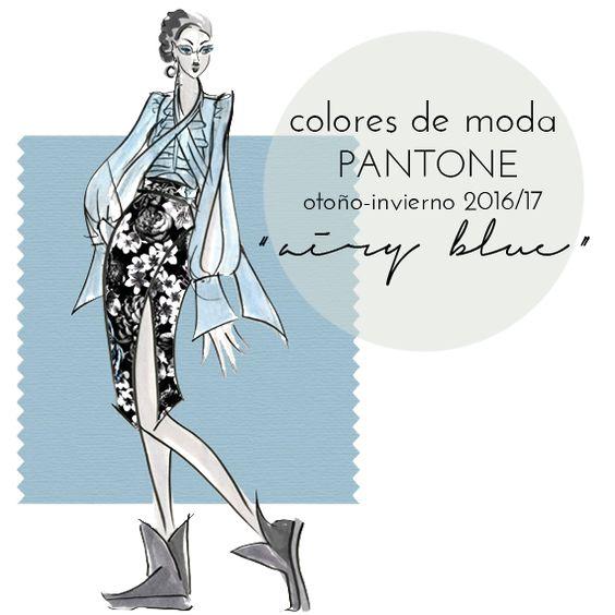 """Colores de moda Pantone otoño invierno 2016-17: azul celeste """"airy blue"""""""
