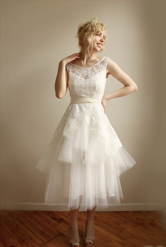 MathildeLace and Tulle Wedding dress Etsy Exclusive by Leanimal, $1250.00