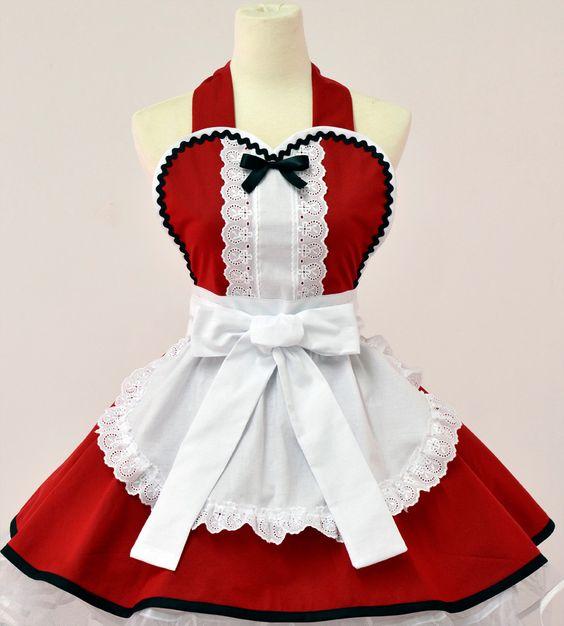 Alice in Wonderland Christmas Apron - Etsy.