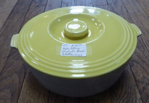 Hall Pottery, With Lid - Made for General Electric, From Booth 57, $40.00.