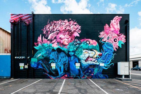 Street Art – Une sélection des meilleures créations du POW! WOW! Hawaii 2016 Tatiana Suarez – Hueman – Woes – Jose Mertz – Lauren YS