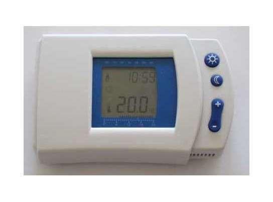Thermostat programmable filaire blanc Otio