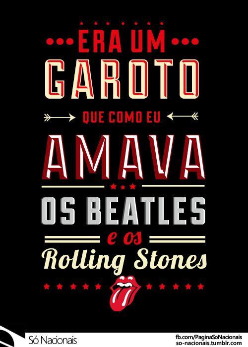 Era Um Garoto Que Como Eu Amava os Beatles e os Rolling Stones -  Engenheiros do Hawaii (Compositores: M. Luzini / F. Migliacci) - versão: Brancato Junior