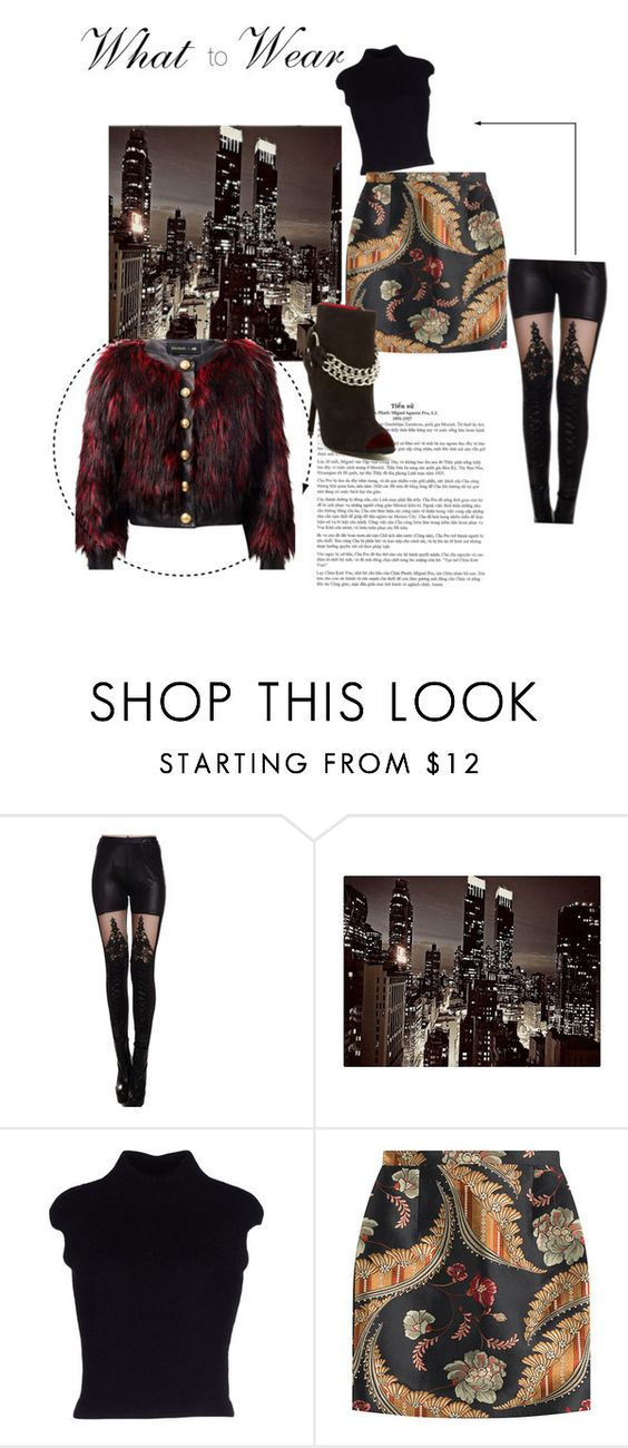 """Saturday Night Inspiration"" by tararanee ❤ liked on Polyvore featuring Dsquared2, Charles Jourdan and Balmain"