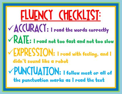 fluency for readers