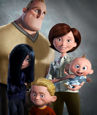 "*BOB PARR/MR. INCREDIBLE, HELEN PARR/ELAST-A-GIRL, JACK-JACK, DASHIELL ""Dash"" & VIOLET PARR ~ The Incredibles,"