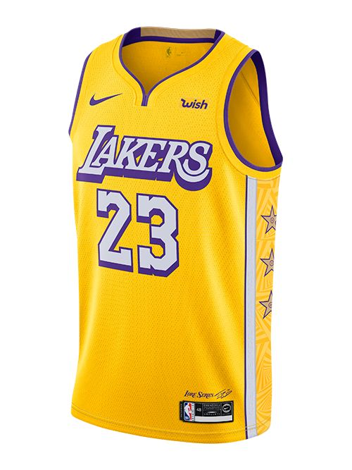 Los Angeles Lakers LeBron James City Edition Swingman Jersey ...