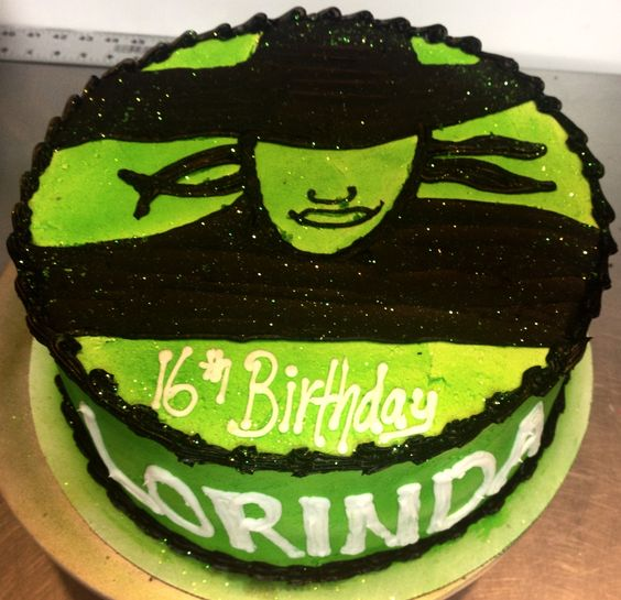 Wicked musicals and cakes on pinterest