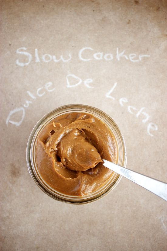 this recipe for slow cooker dulce de leche made the less dangerous way seems like the perfect project. holiday gifts?