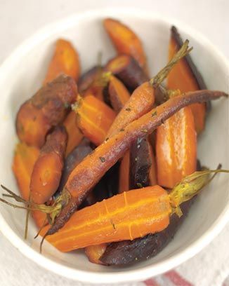 whole-baked carrots