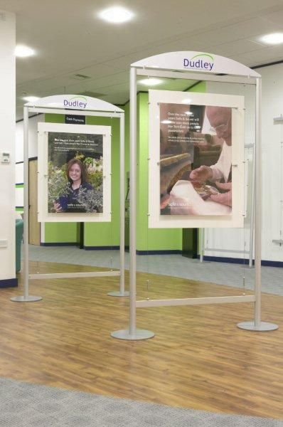 More of our stylish poster holders taking pride of place at Dudley Metropolitan Borough Council.