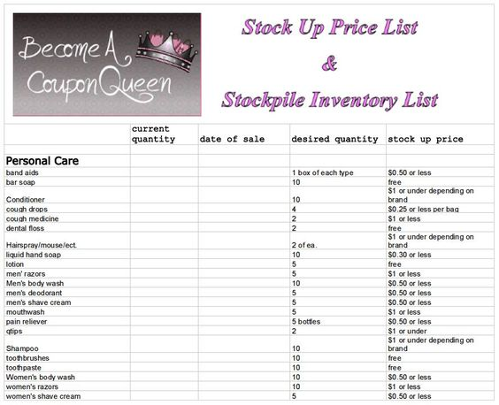 how to set up stock inventory