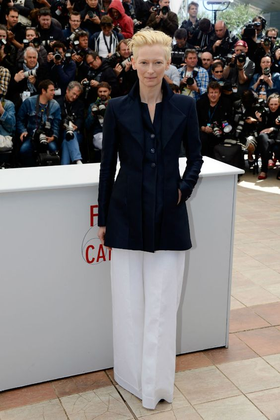 """Tilda Swinton in Chanel at the """"Only Lovers Left Alive"""" photocall (2013)"""