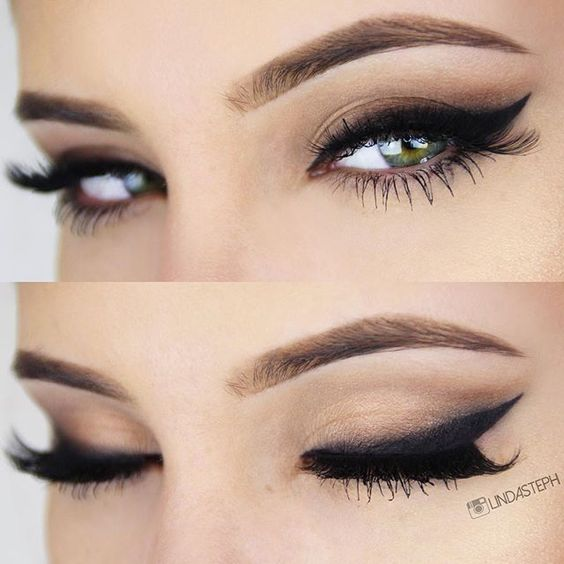 Wedding Makeup Winged Eyeliner : dramatic winged liner = sexy bedroom eyes! ~ we this ...