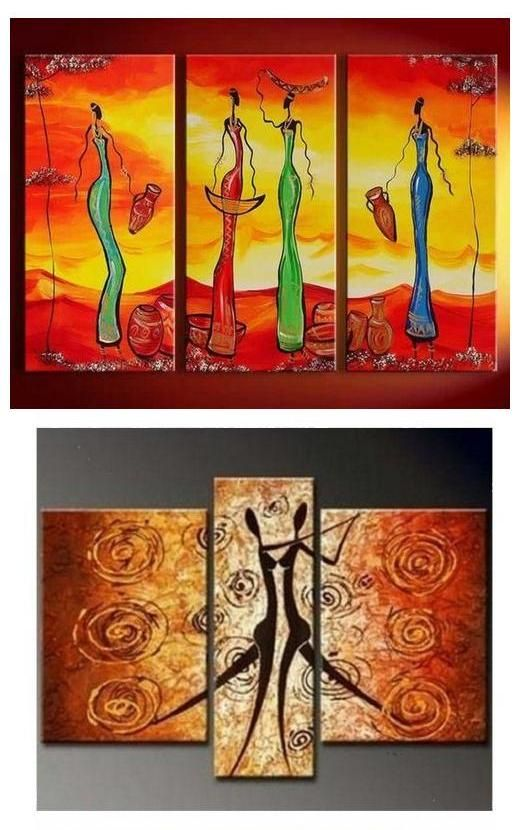 African Painting African Women Paintings Buy Acrylic Painting Wall Art For Dining Room 3 African Paintings Canvas Paintings For Sale Large Canvas Painting