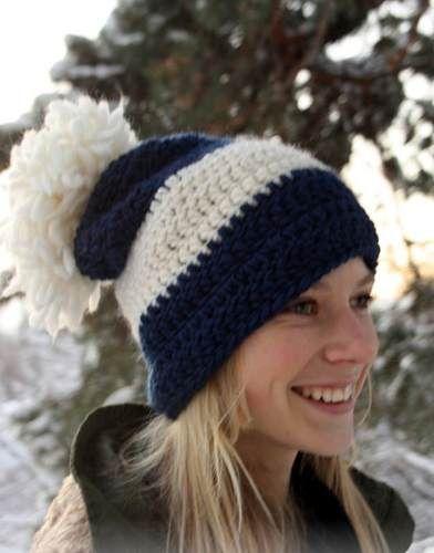 gorro de lana mujer beanie pompon invierno tejido artesanal