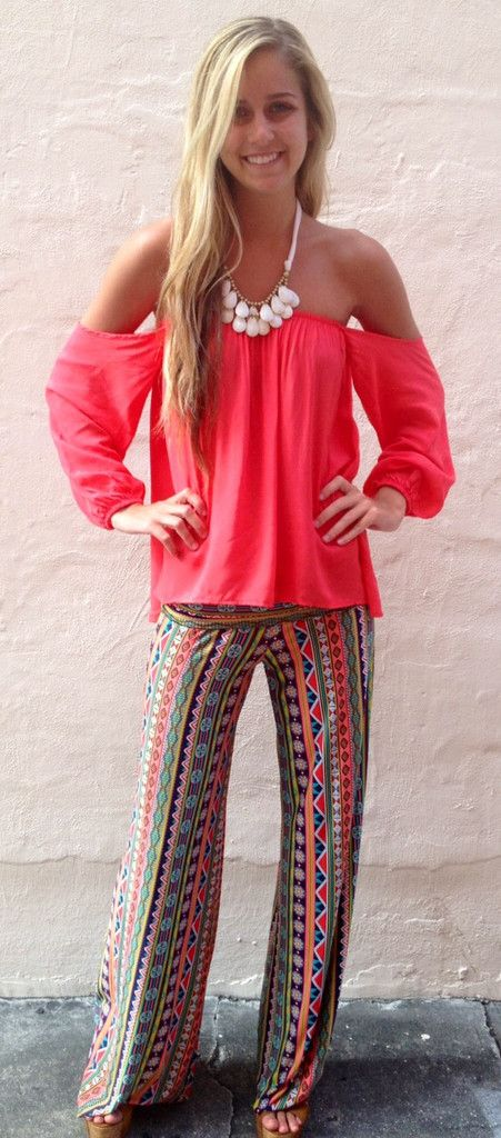 Over The Rainbow Exuma Pants - Boca Leche $38.00 I love this look but I don't think I could pull it off lol