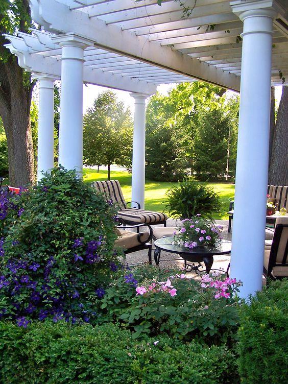 pergola and patio