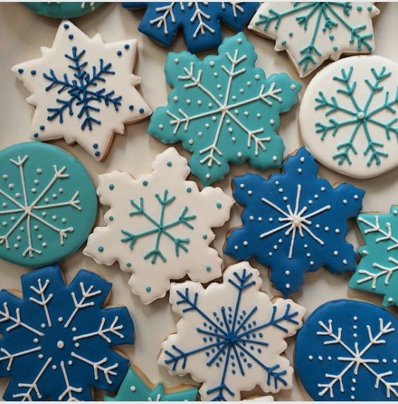 """Mama Shep on Instagram: """"If it's gonna be this cold, at least let's see some snow! ❄️ #snowflakes #freezing #winter #wintercookies #mamashepcookies"""""""