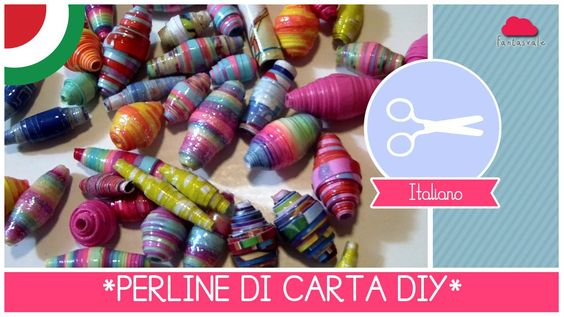 Come fare le PERLINE di CARTA Tutorial DIY by Fantasvale ft. Arte per Te