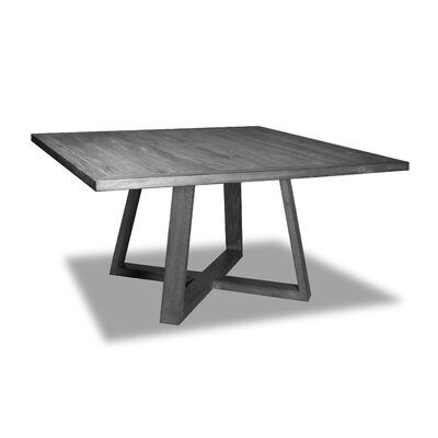 Union Rustic Wixom Solid Wood Dining Table Colour Gray Size 30 H X 60 W X 60 D In 2020 Dining Table Square Dining Tables Solid Wood Dining Table