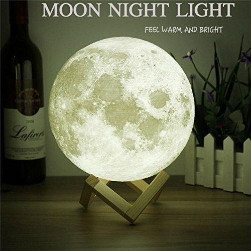 Moon Light 3d Printing Light Moon Lamp 3d Warm And White Touch Control Brightness With Usb Charging Luna Lamp Moon Decor Moon Decor Night Light Decor