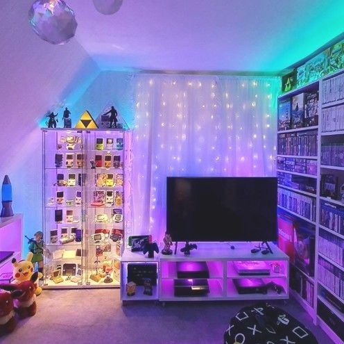 Roomforgaming Small Gaming Bedroom Setup 17 Game Room Ideas On A Budget Bedroom Setup Game Room Video Game Room Design