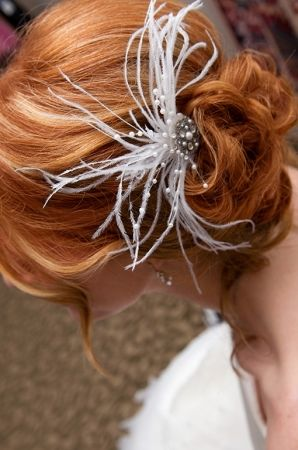 Vintage-style Ostrich Feather And Swarovski Crystal Fascinator, 60% off | Recycled Bride