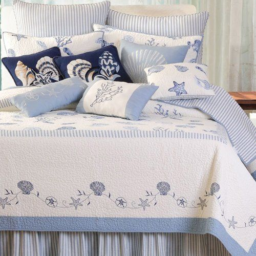 coastal seashell bedding