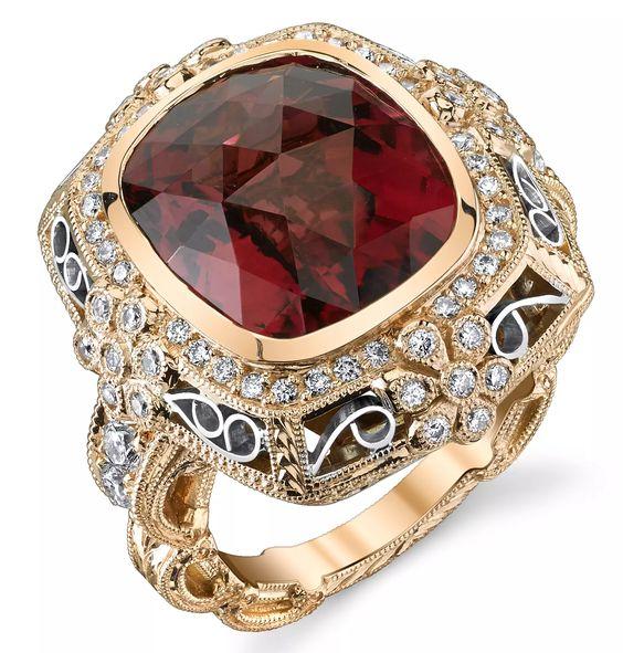 Dallas Prince Designs Moonlight Rose tourmaline ring   JCK On Your Market