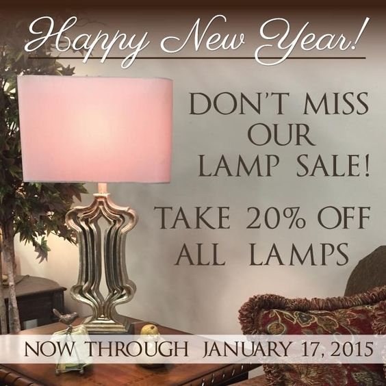 You've got until Saturday to take advantage of our Lamp Sale! Come see us this week!