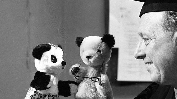 Harry Corbett with Sooty and Soo