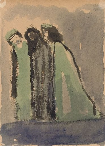 Emil Nolde, The actors in the theater