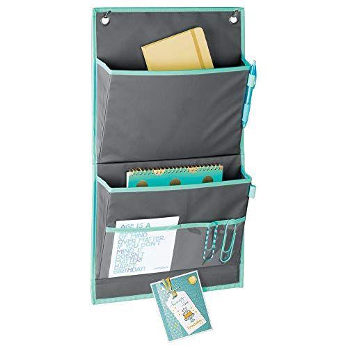 Mdesign Soft Fabric Over The Door Hanging Storage Organiz Https Www Amazon Com Dp B076tfqxpd Ref C Desk Organization Office Home Office Desks Work Cubicle